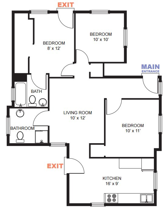 3 Bedrooms 2 Bathrooms Apartment for rent at 332 E Madison Street in Ann Arbor, MI