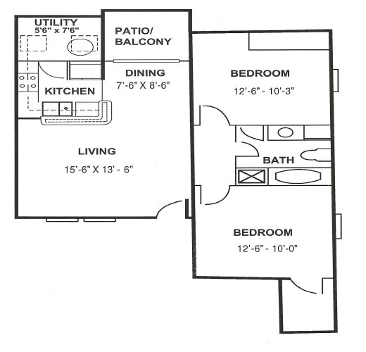 2 Bedrooms 1 Bathroom Apartment for rent at The Paces At Woodlake in Athens, GA