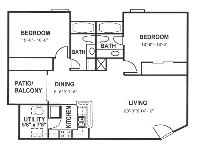 2 Bedrooms 2 Bathrooms Apartment for rent at The Paces At Woodlake in Athens, GA