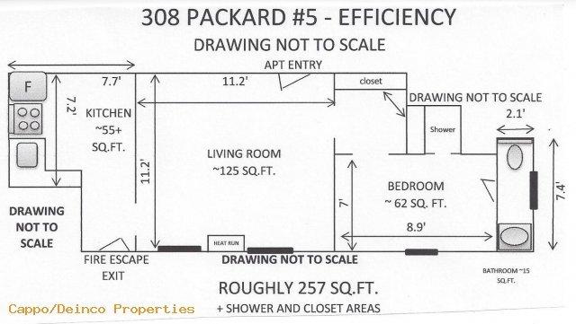 Studio 1 Bathroom Apartment for rent at 308 Packard St in Ann Arbor, MI
