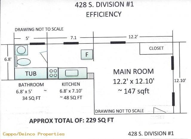 Studio 1 Bathroom Apartment for rent at 428 S. Division in Ann Arbor, MI