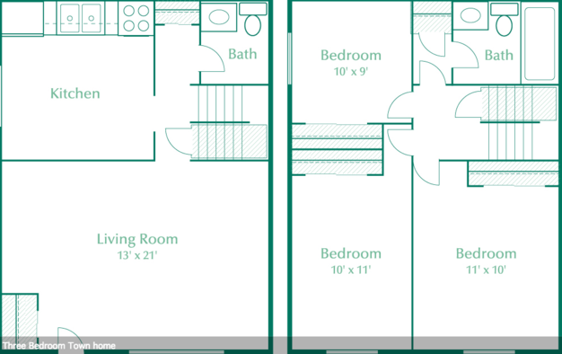 3 Bedrooms 2 Bathrooms Apartment for rent at Stillwater Park in Dayton, OH