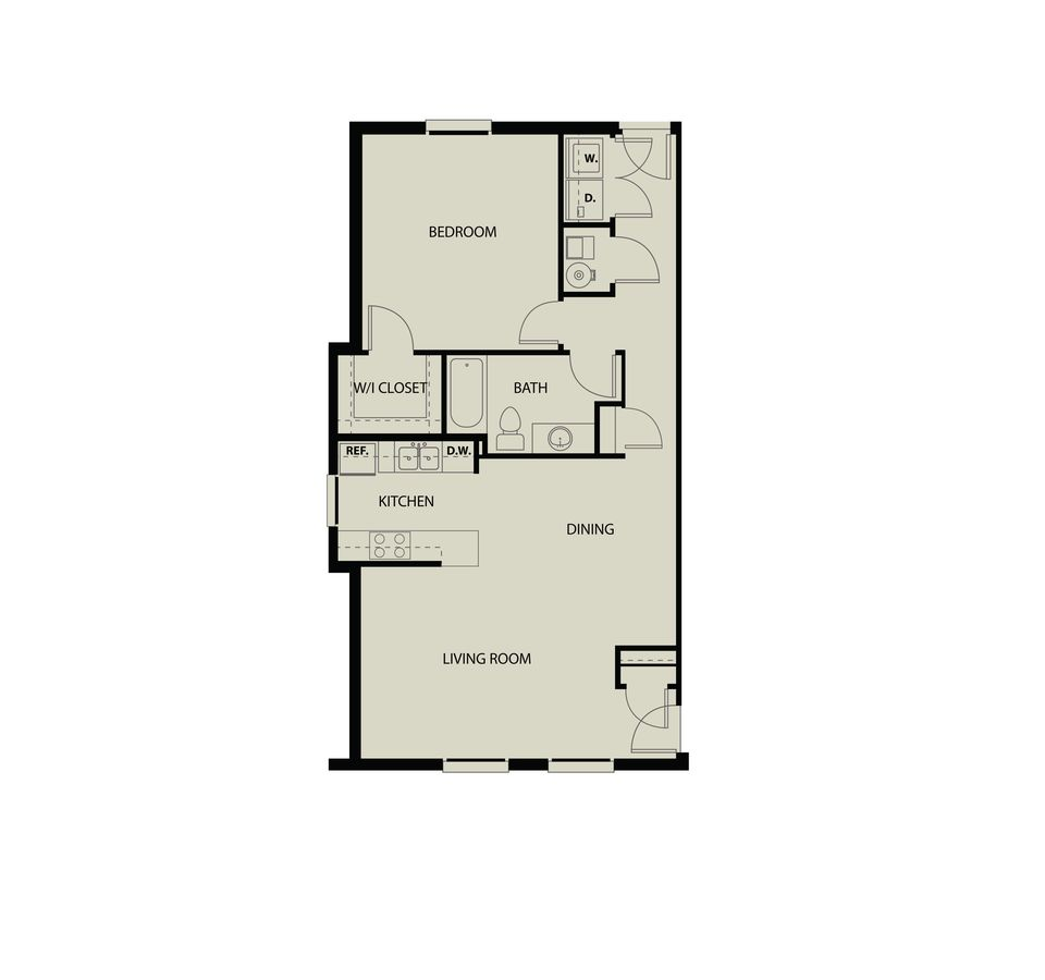 1 Bedroom 1 Bathroom Apartment for rent at The Landing Apartments in Dayton, OH