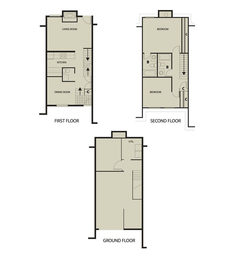 2 Bedrooms 2 Bathrooms Apartment for rent at The Landing Apartments in Dayton, OH