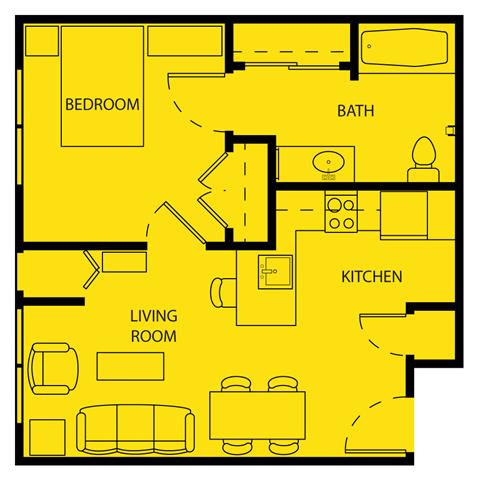 1 Bedroom 1 Bathroom Apartment for rent at Senior Living At Cambridge Heights Apartments in St Louis, MO