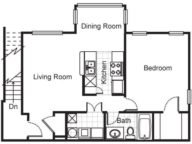 1 Bedroom 1 Bathroom Apartment for rent at Villa Del Sol Apartments in Kansas City, MO