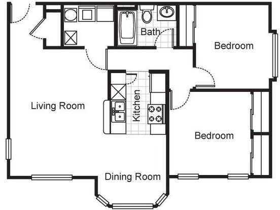 2 Bedrooms 1 Bathroom Apartment for rent at Villa Del Sol Apartments in Kansas City, MO