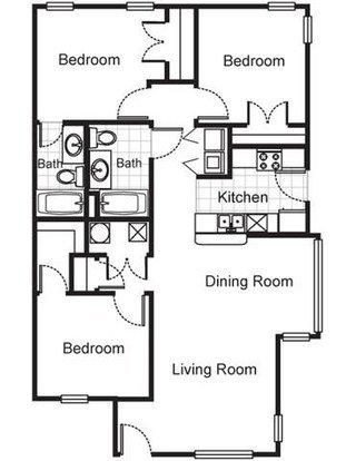 3 Bedrooms 2 Bathrooms Apartment for rent at Villa Del Sol Apartments in Kansas City, MO