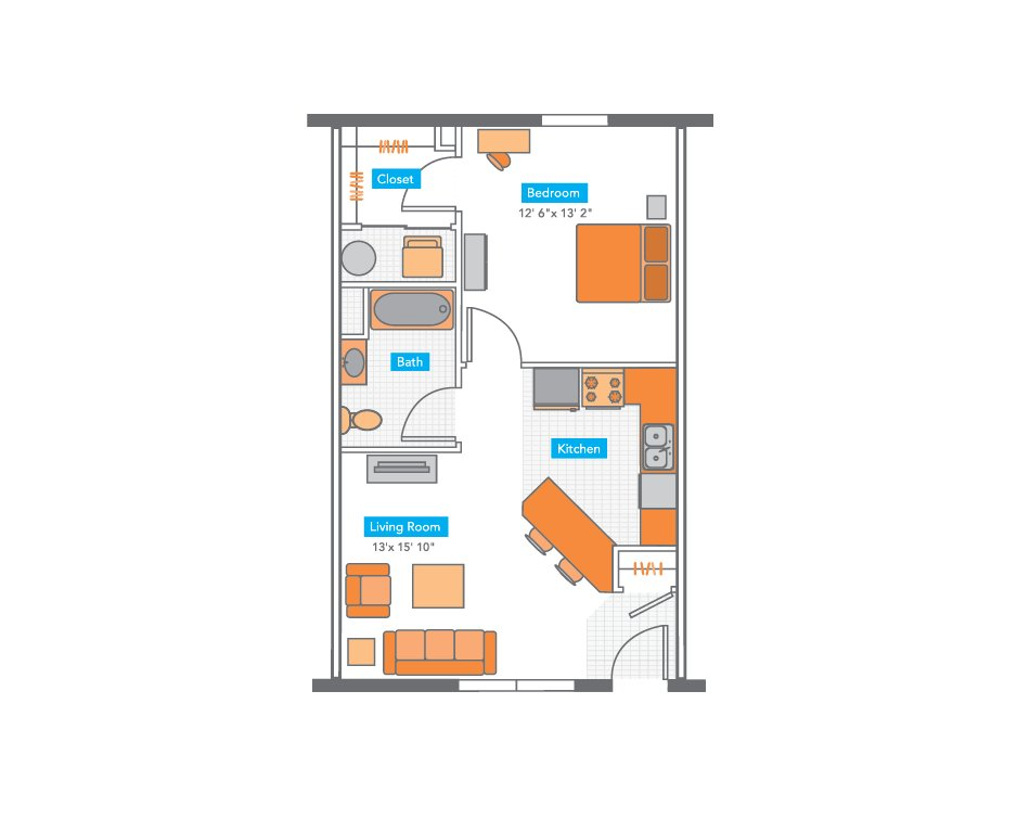 1 Bedroom 1 Bathroom Apartment for rent at Copper Beech Townhomes in Columbia, MO