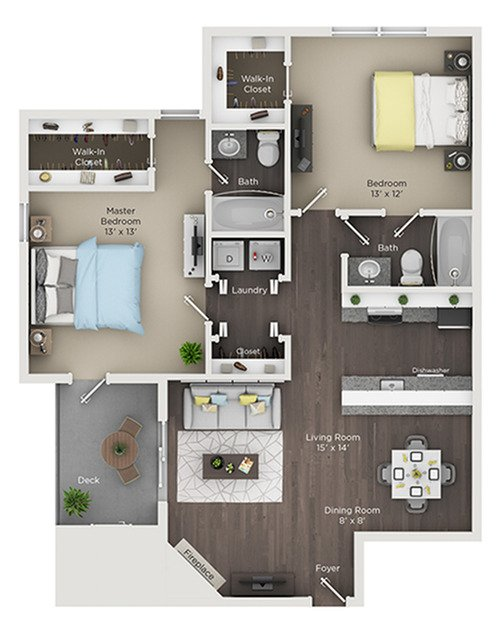 2 Bedrooms 2 Bathrooms Apartment for rent at Grandview Apartments in Columbus, OH