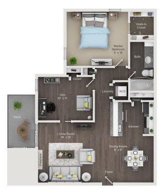 2 Bedrooms 1 Bathroom Apartment for rent at Grandview Apartments in Columbus, OH