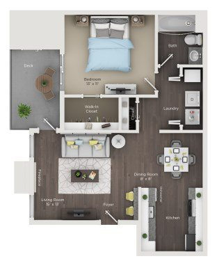 1 Bedroom 1 Bathroom Apartment for rent at Grandview Apartments in Columbus, OH