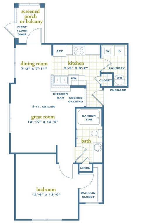 1 Bedroom 1 Bathroom Apartment for rent at Austin Springs in Miamisburg, OH