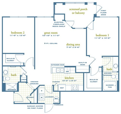 2 Bedrooms 2 Bathrooms Apartment for rent at Austin Springs in Miamisburg, OH