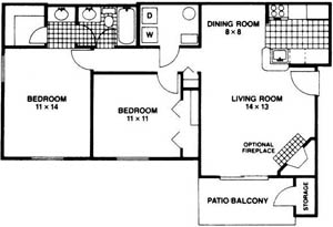 2 Bedrooms 1 Bathroom Apartment for rent at Steeplechase Luxury Apartments in Centerville, OH