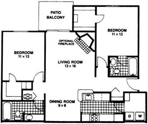 2 Bedrooms 2 Bathrooms Apartment for rent at Steeplechase Luxury Apartments in Centerville, OH