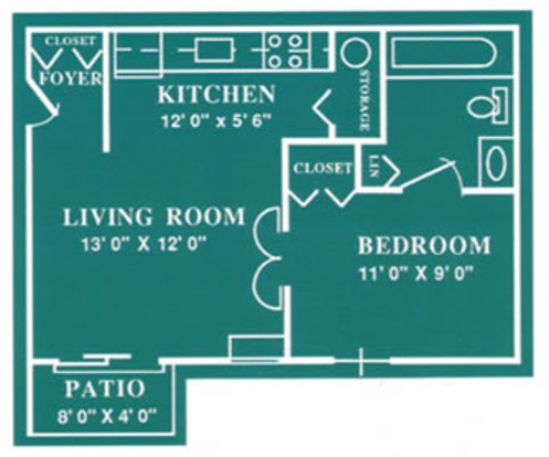 1 Bedroom 1 Bathroom Apartment for rent at Harbour Club in Dayton, OH