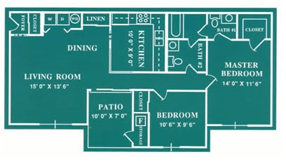 2 Bedrooms 1 Bathroom Apartment for rent at Harbour Club in Dayton, OH