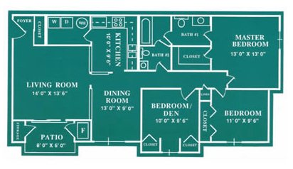 3 Bedrooms 2 Bathrooms Apartment for rent at Harbour Club in Dayton, OH