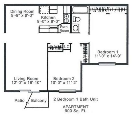 2 Bedrooms 1 Bathroom Apartment for rent at Ashland Manor Apartments in Columbia, MO