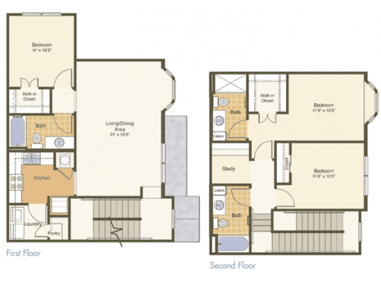 3 Bedrooms 3 Bathrooms Apartment for rent at Mcknight Crossing in St Louis, MO