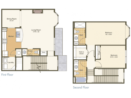 2 Bedrooms 3 Bathrooms Apartment for rent at Mcknight Crossing in St Louis, MO