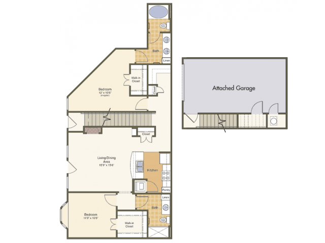 2 Bedrooms 2 Bathrooms Apartment for rent at Mcknight Crossing in St Louis, MO