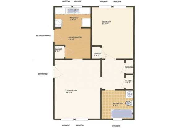 1 Bedroom 1 Bathroom Apartment for rent at Oxford in St Louis, MO