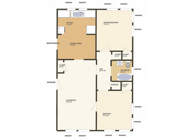 2 Bedrooms 1 Bathroom Apartment for rent at Oxford in St Louis, MO