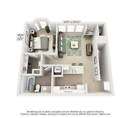 1 Bedroom 1 Bathroom Apartment for rent at Stanford Place in St Louis, MO