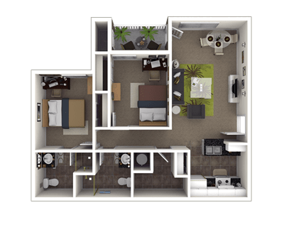 2 Bedrooms 2 Bathrooms Apartment for rent at The Reserve At Athens in Athens, GA