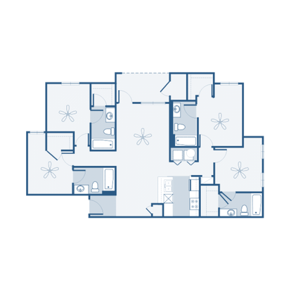 4 Bedrooms 3 Bathrooms Apartment for rent at The Connection At Athens in Athens, GA