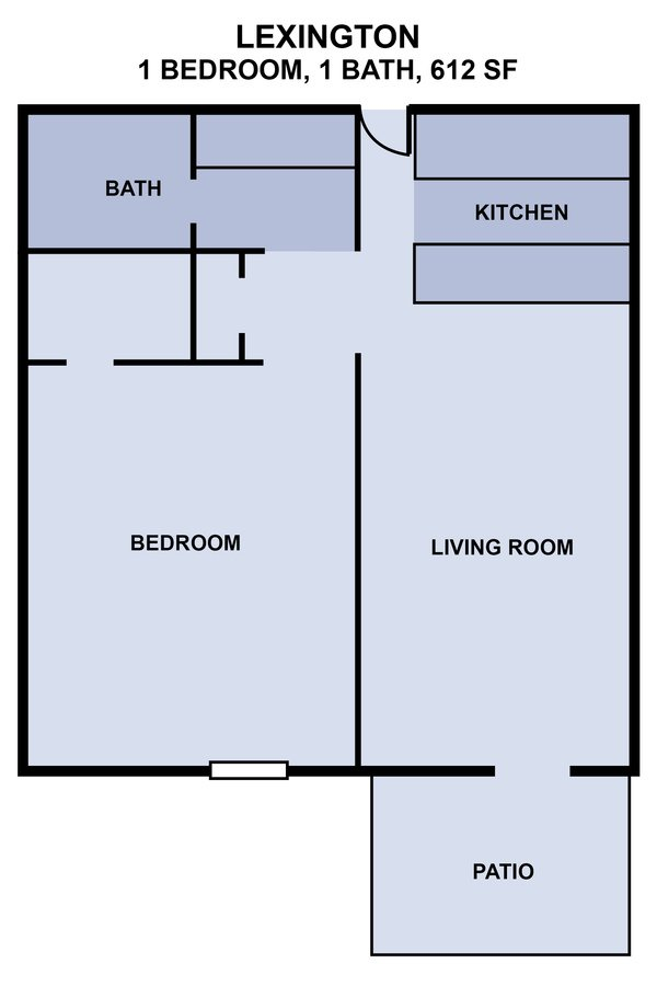 1 Bedroom 1 Bathroom Apartment for rent at University Garden Apartments in Athens, GA