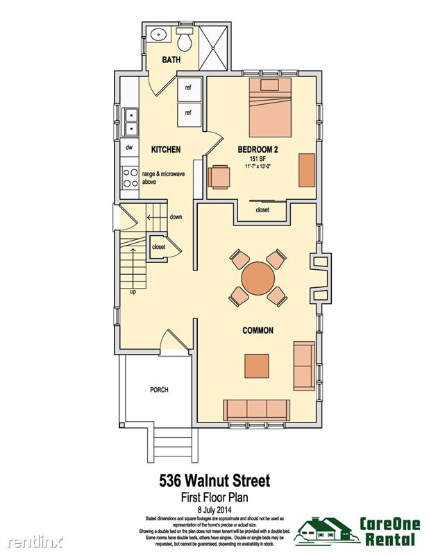 5 Bedrooms 2 Bathrooms House for rent at 536 Walnut St in Ann Arbor, MI