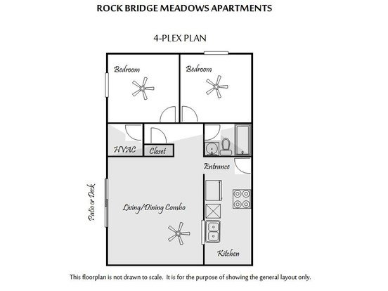 2 Bedrooms 1 Bathroom Apartment for rent at Rock Bridge Meadows Apartments in Columbia, MO