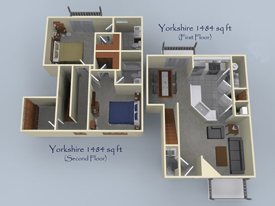 2 Bedrooms 3 Bathrooms Apartment for rent at Villas At Londontown in Knoxville, TN