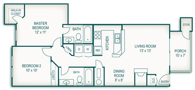 2 Bedrooms 2 Bathrooms Apartment for rent at Country Club Apartments in Toledo, OH