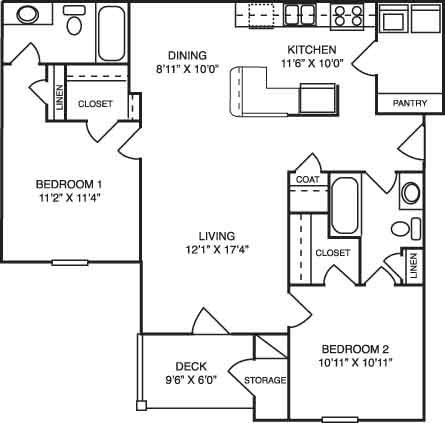 2 Bedrooms 2 Bathrooms Apartment for rent at Blue Ridge Apartments in Raleigh, NC