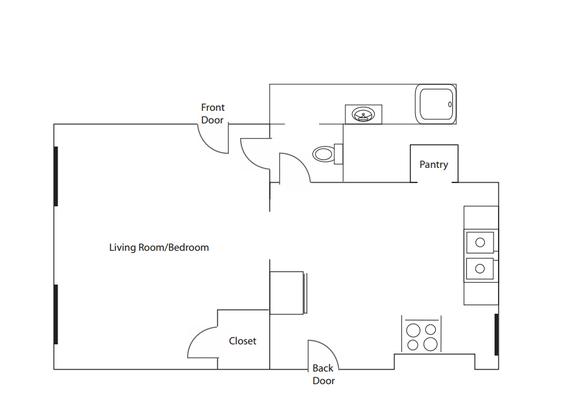 Studio 1 Bathroom Apartment for rent at Buxton Place in Cincinnati, OH
