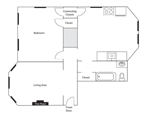 1 Bedroom 1 Bathroom Apartment for rent at Buxton Place in Cincinnati, OH