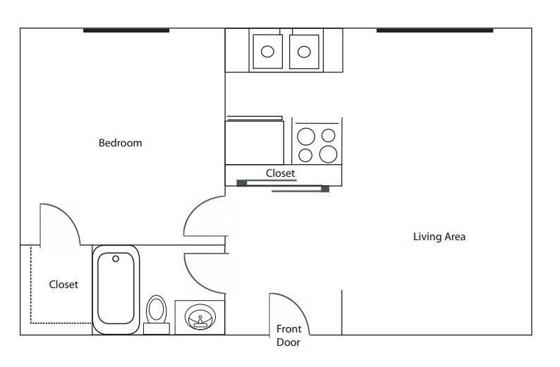 1 Bedroom 1 Bathroom Apartment for rent at Oakview Apartments in Cincinnati, OH