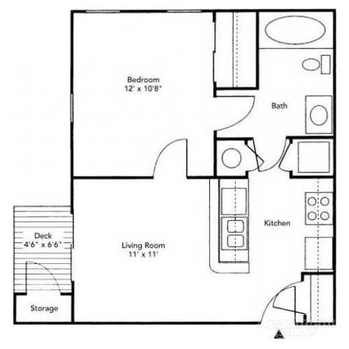 1 Bedroom 1 Bathroom Apartment for rent at The Racquet Club in Lexington, KY