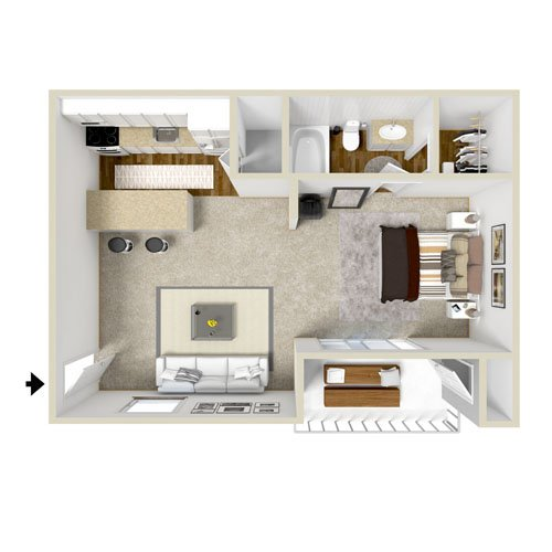 Studio 1 Bathroom Apartment for rent at Copper Pointe Apartment Homes in Knoxville, TN