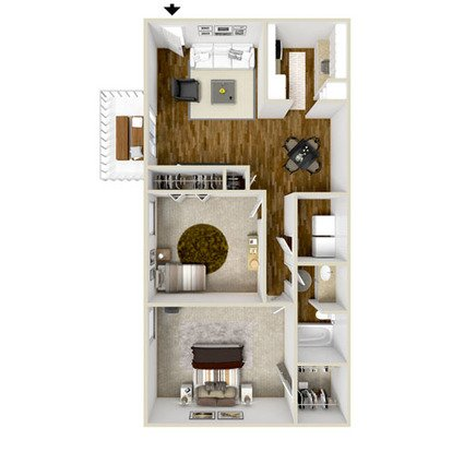 2 Bedrooms 1 Bathroom Apartment for rent at Copper Pointe Apartment Homes in Knoxville, TN