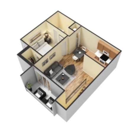1 Bedroom 1 Bathroom Apartment for rent at The Metropolitan in Knoxville, TN