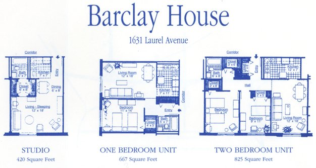 Studio 1 Bathroom Apartment for rent at Barclay House Apartments in Knoxville, TN
