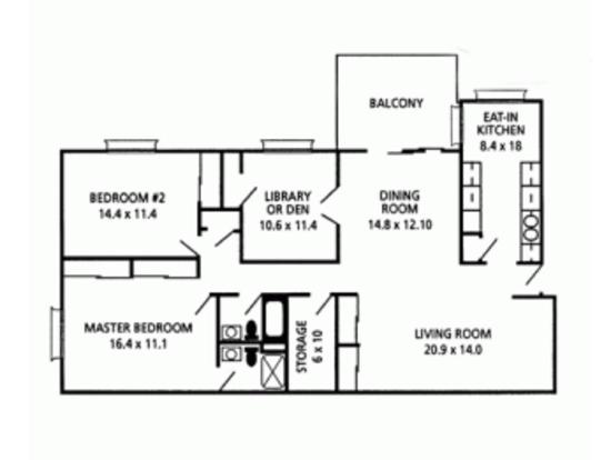 2 Bedrooms 2 Bathrooms Apartment for rent at Finneytown Apartments in Cincinnati, OH