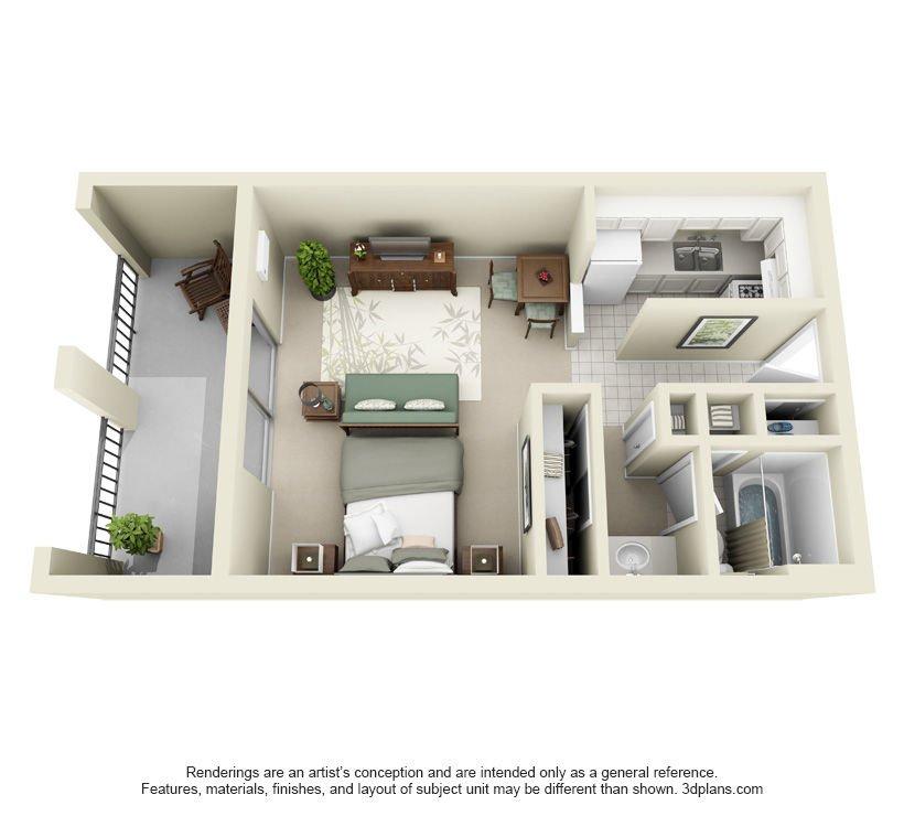 Studio 1 Bathroom Apartment for rent at The Forum Apartments & Health Club in Cincinnati, OH