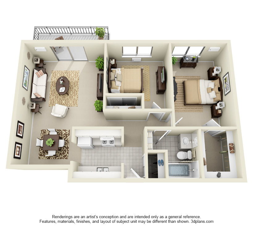 2 Bedrooms 1 Bathroom Apartment for rent at The Forum Apartments & Health Club in Cincinnati, OH