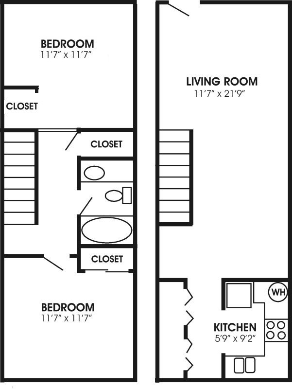 2 Bedrooms 1 Bathroom Apartment for rent at Stonewall Ii in Knoxville, TN